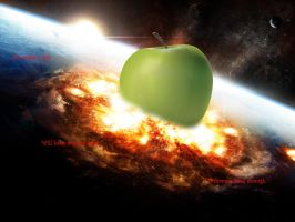 Apple Thrown Too Hard by Pepeross