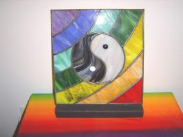 Yin Yang Leaded Stained Glass by MilesArtGlass