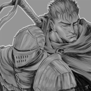 Dark Souls / Berserk: Chosen Undead and Guts by MenasLG