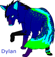 my friend's fursona, Dylan by FoxWolfDixxy