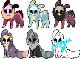 More Little Skull Guys by misfit-adopts