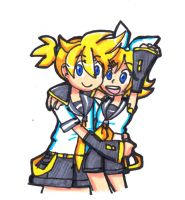Kagamine 'YO' by Umbra-Flower