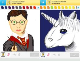 Draw Something!!! (Day 136) by Hedwigs-art