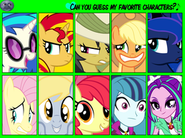 Can You Guess My Favorite Character by DigiRadiance