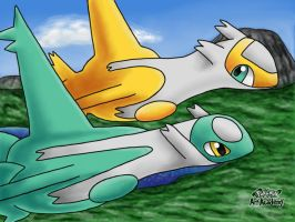Shiny Latias and Shiny Latios