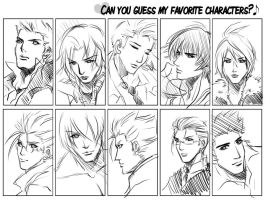 meme+guess my fav characters by xanseviera