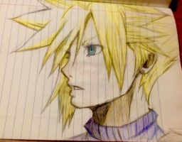 Cloud from Final Fantasy VII by sonikujr