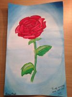 My first time painting a Rose by snowdrop990