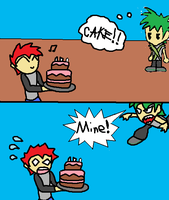 The cake is mine by luigi2cool