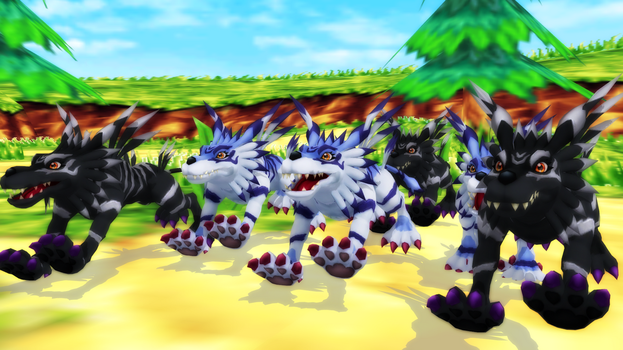 Garurumon (Cyber Sleuth) Polished by GuilTronPrime