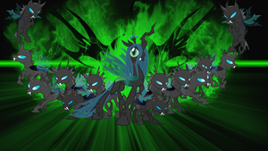Queen Chrysalis' Army Wallpaper by daughterdragon