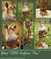 Finished Faun Sculpture by nyvaine