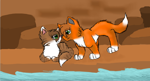 Leafstar and Billystorm by CascadingSerenity