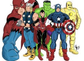 Vintage Avengers by Kaufee