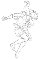 A Space for my Heart - Prince ascending (pencils) by KenjisArtDump
