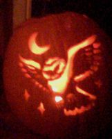 Midnight Owl Pumpkin by SpeIIbinder