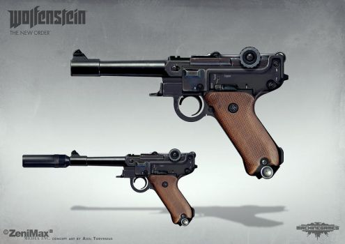 Wolfenstein: The New Order - Handgun 46 by torvenius