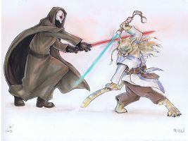 Jedi Fight Commish by BAM---BAM