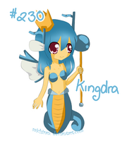 PKM - Kingdra Gijinka by michiran