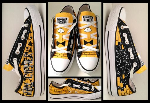 Bill Cipher themed shoe by sayuttan