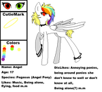 Pony Angel reference sheet by Angel-the-angel