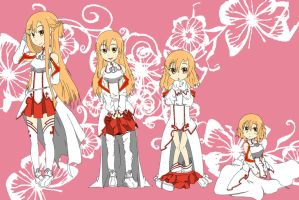 Sword Arts Online Asuna age regression Request by Tatsuya505