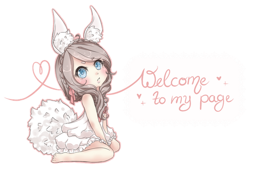 Cottonee Welcome sign by Cottoneeh