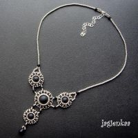 Black Tresures necklace by jagienkaa