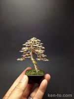 3-color upright wire bonsai tree by Ken To by KenToArt