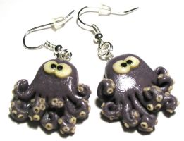 Octopus, earings by oxanaart