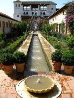 Fountain at Generalife by MkCream