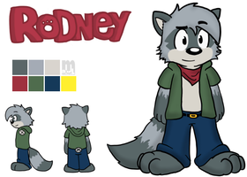 Rodney Raccoon Reference by Cartcoon