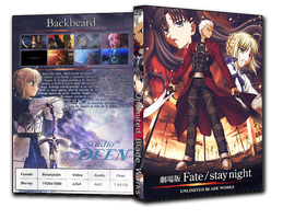 Fate Stay Night: Unlimited Blade Works DVD Cover 2 by wakka256