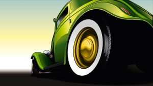 Hotrod Vector by depot-hdm