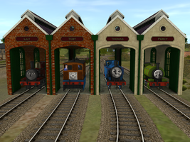 Tidmouth Branch Sheds - Finished by wildnorwester