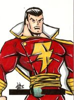 Captain Marvel Sketchcard by IanDWalker