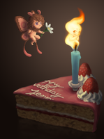 Moff and Flickerlee Birthdaycake by RanSerenader