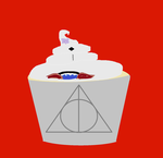 Deatly Hallows Cupcake by Kitkatrh