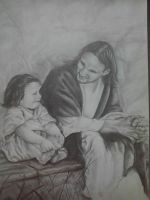 jesus with child by artkid01
