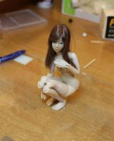 Mini Bjd Prototype - Posing with wig 02 by Rosen-Garden