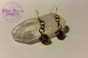 Wire Ball Earrings by WireMoonJewelry