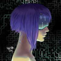 May Mucking about . Motoko Kusanagi by theCHAMBA