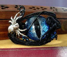 Wire Wrap - Drow Spider Super Color Shift Cuff 2 by LadyPirotessa