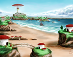 Seaside Fantasy Town by Foxxeh