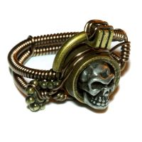 Steampunk Skull Ring by CatherinetteRings