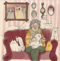Crazy cat lady by Limely