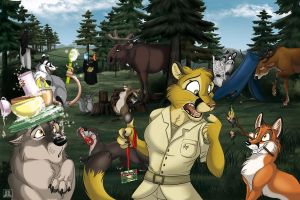Rainfurrest Conbook Cover by TaniDaReal