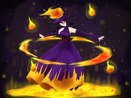 Ignis the Witch of Flames by watermelon-clock