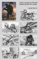 DragonRiders Storyboard by kalkie