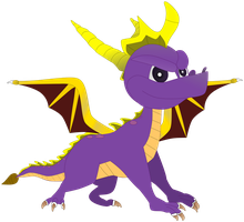 My first vector of, Spyro The Dragon. by Flutterflyraptor